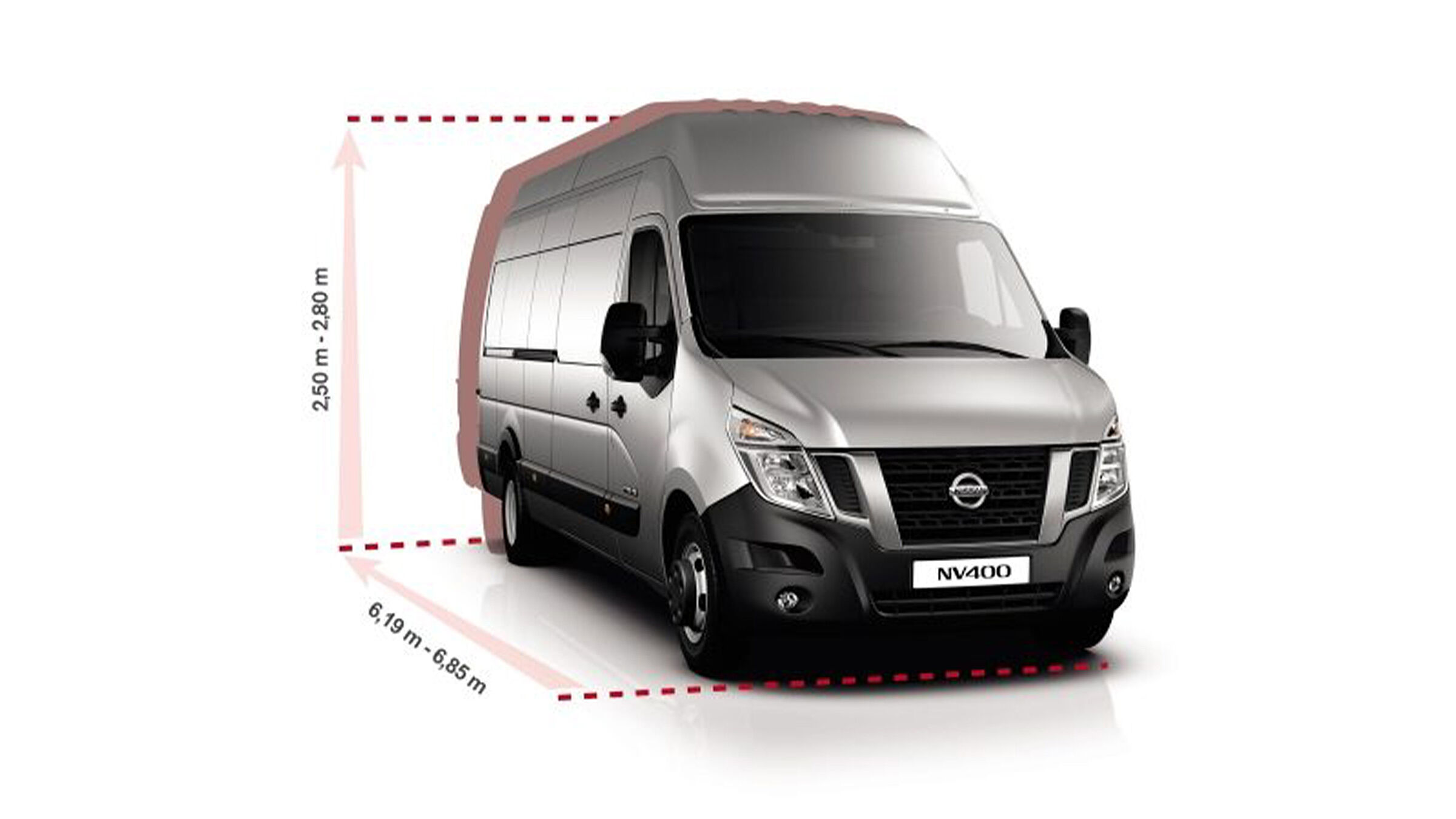 Nissan NV400 Kastenwagenen Autozentren P&A-Preckel