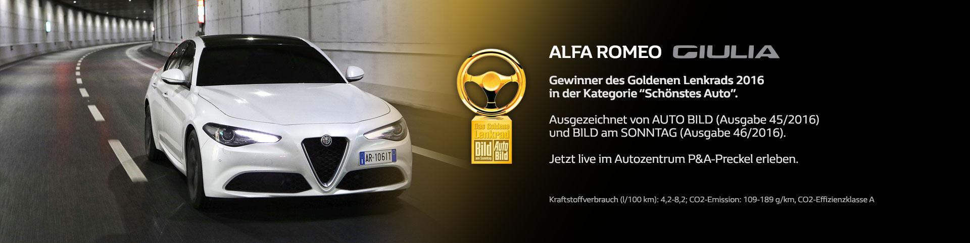 Goldenes Lenkrad Alfa Romeo Giulia