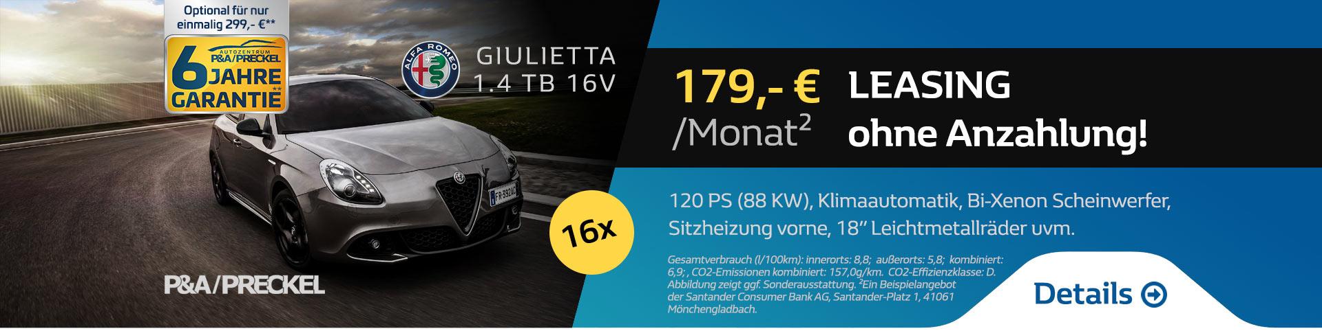 Giulietta Leasing 179 Euro ohne Anzahlung