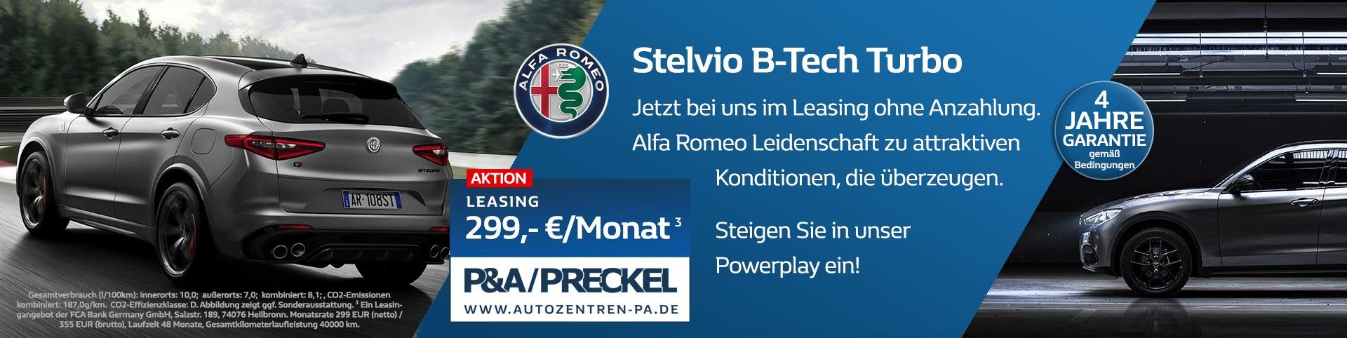 Alfa Romeo Stelvio B-Tech Leasing