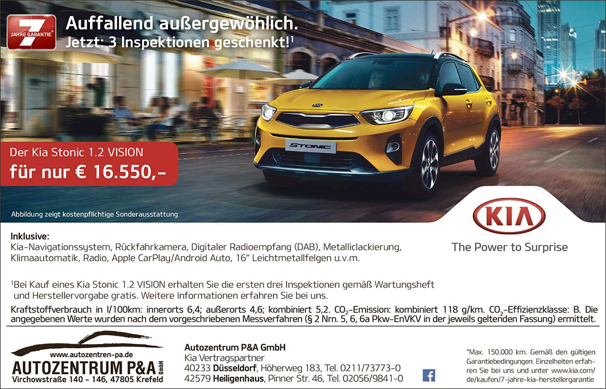 KIA Stonic Angebot 2018 Autozentrum P&A