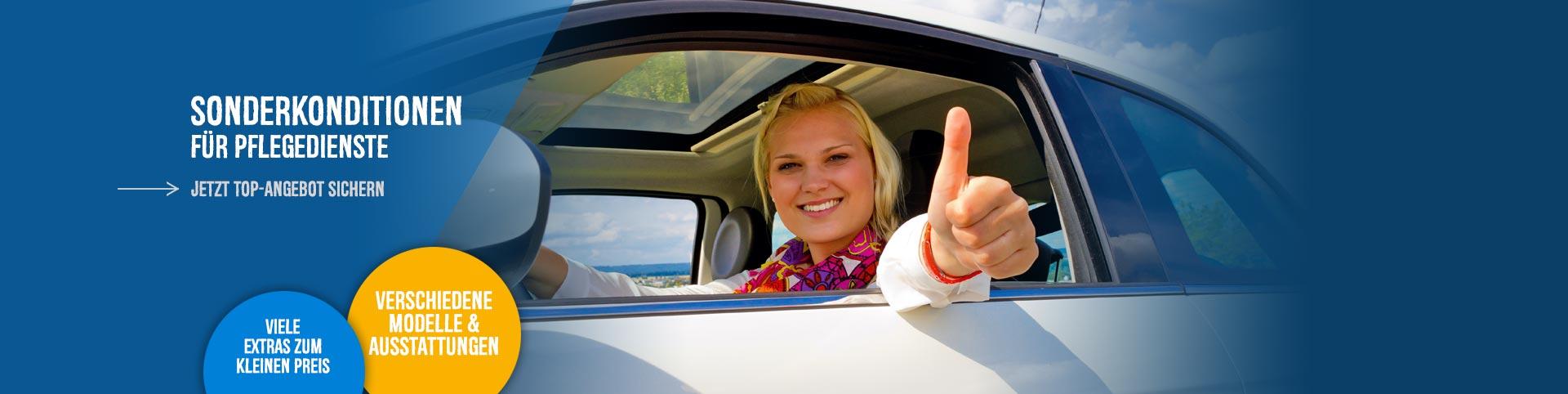 Fahrzeugangebote für Pflegedienste bei P&A-Preckel