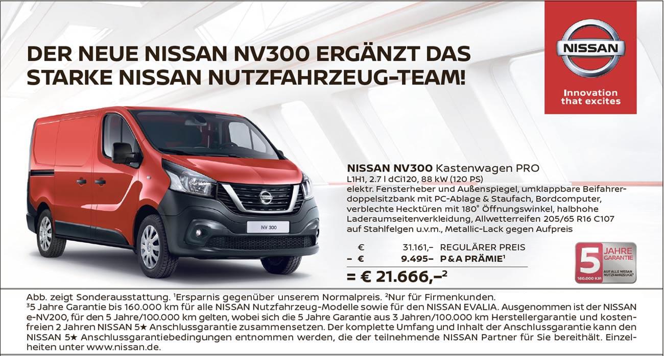 Nissan NV300 Kastenwagen Pro L1H1