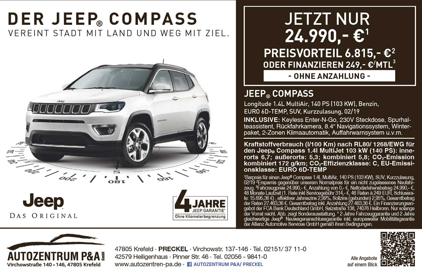 Angebot Jeep Compass bei P&A-Preckel
