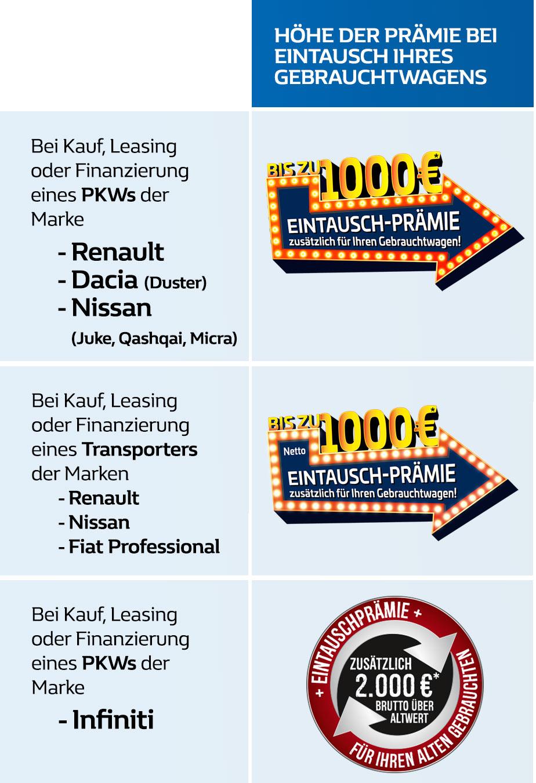 Gebrauchtwagenprämie für Ihren alten Gebrauchtwagen