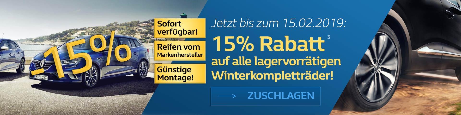Winterkompletträder Angebot 15 Prozent
