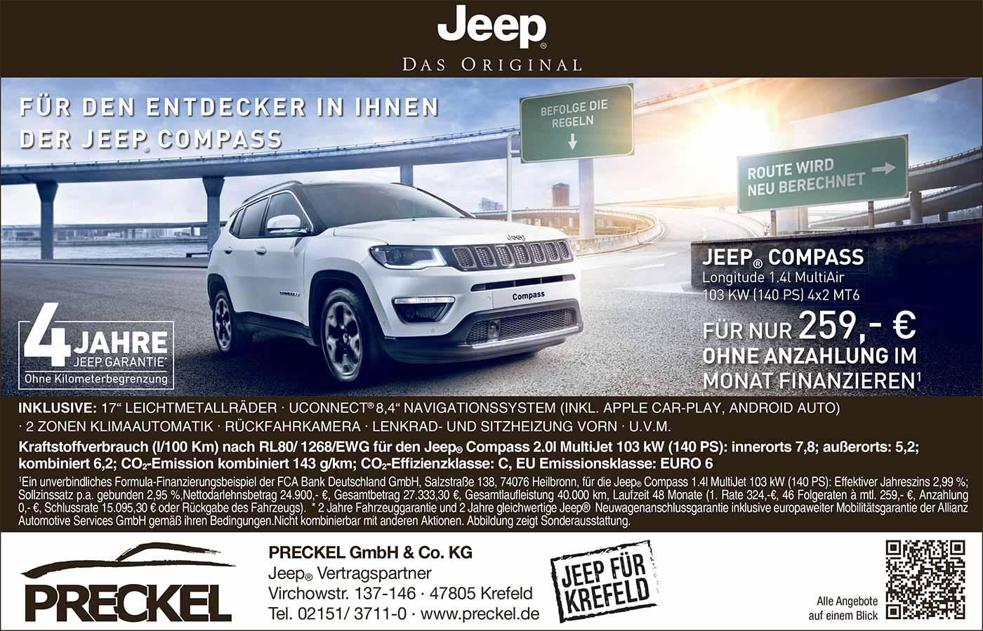 Neuer Jeep Compass 2017 bei Preckel