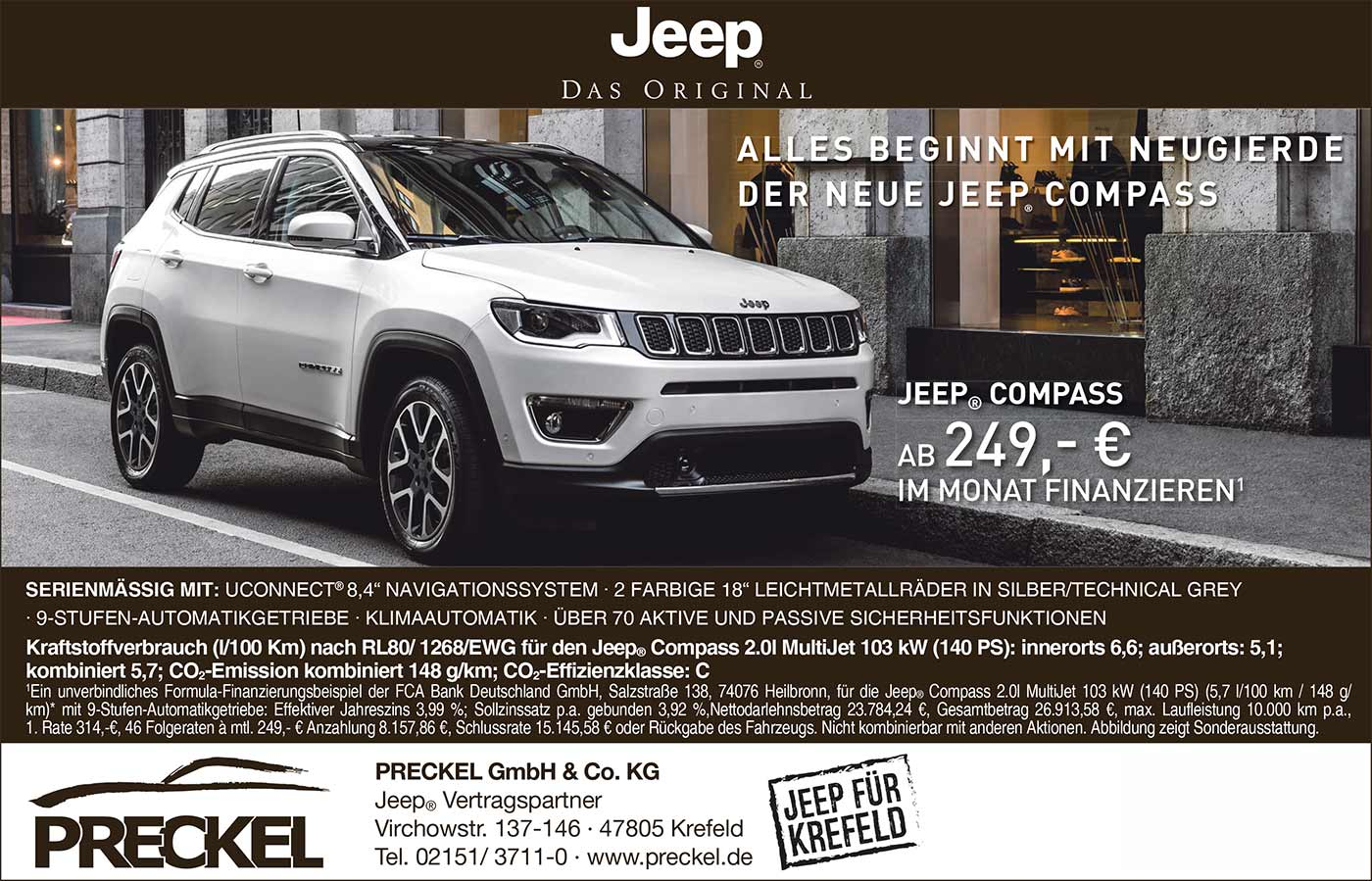 angebote aktionen jeep in krefeld autozentrum preckel. Black Bedroom Furniture Sets. Home Design Ideas