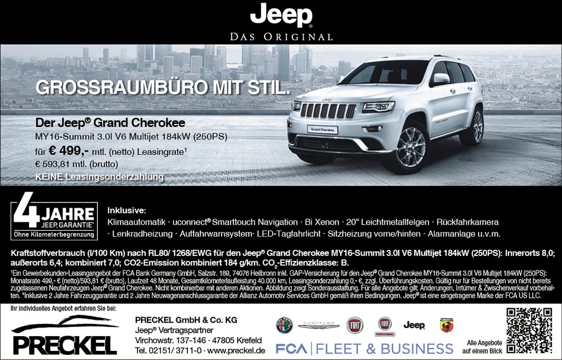 Grand Cherokee Summit Angebot