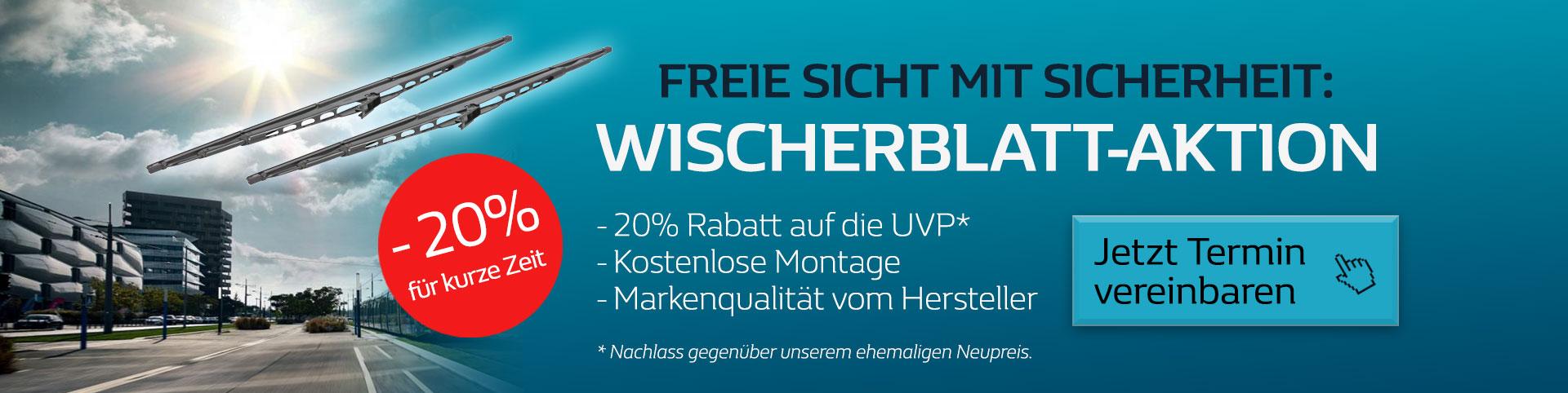 Wischerblatt Serviceaktion im Autozentrum P&A-Preckel