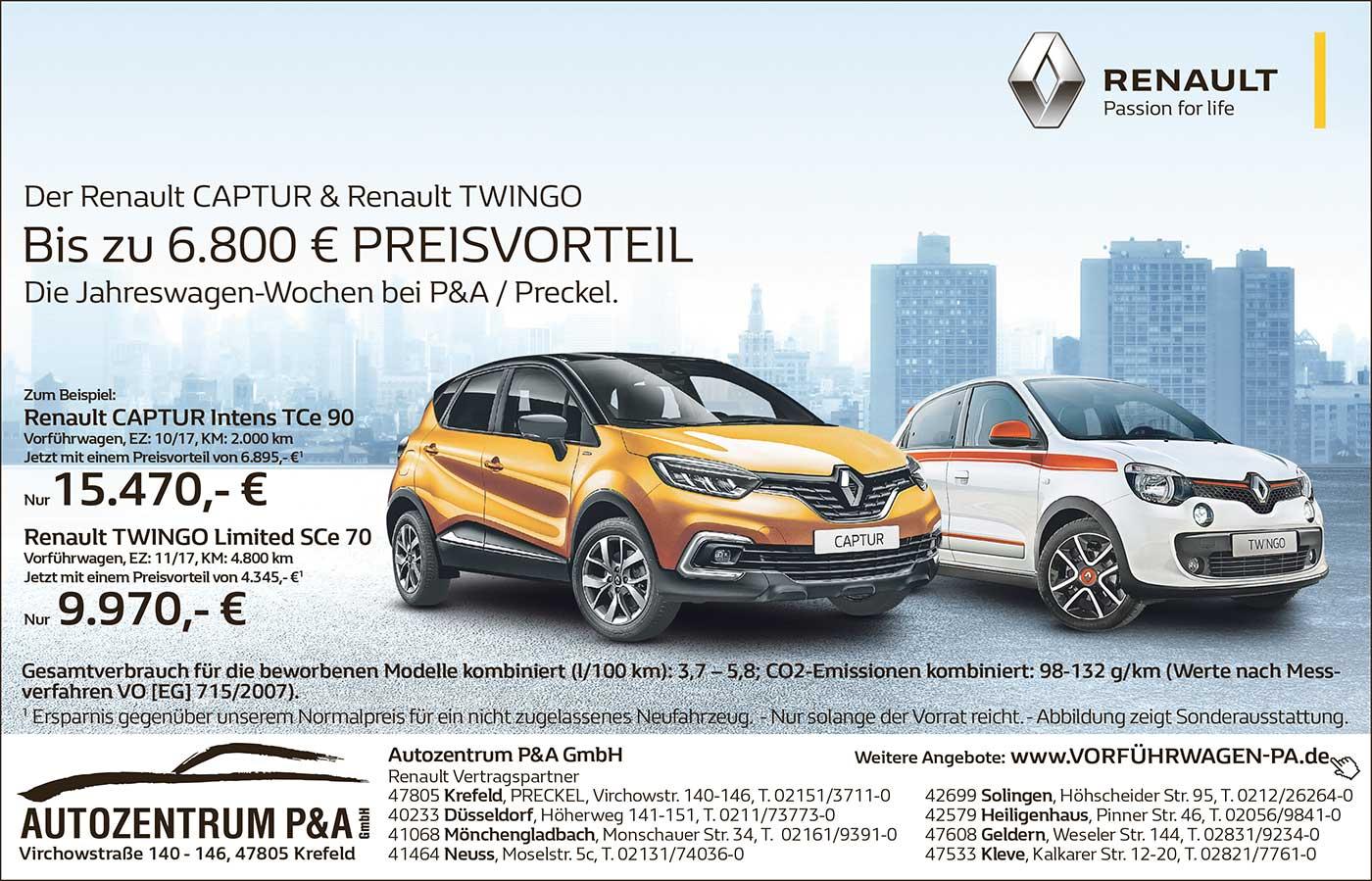 Jetzt bei P&A-Preckel: Renault Captur im Angebot