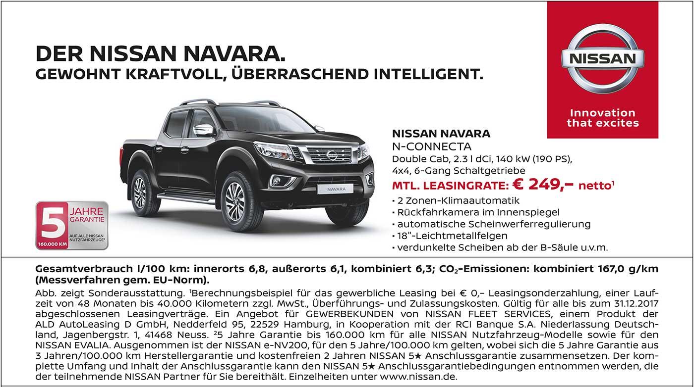 Der Nissan Navara Acenta