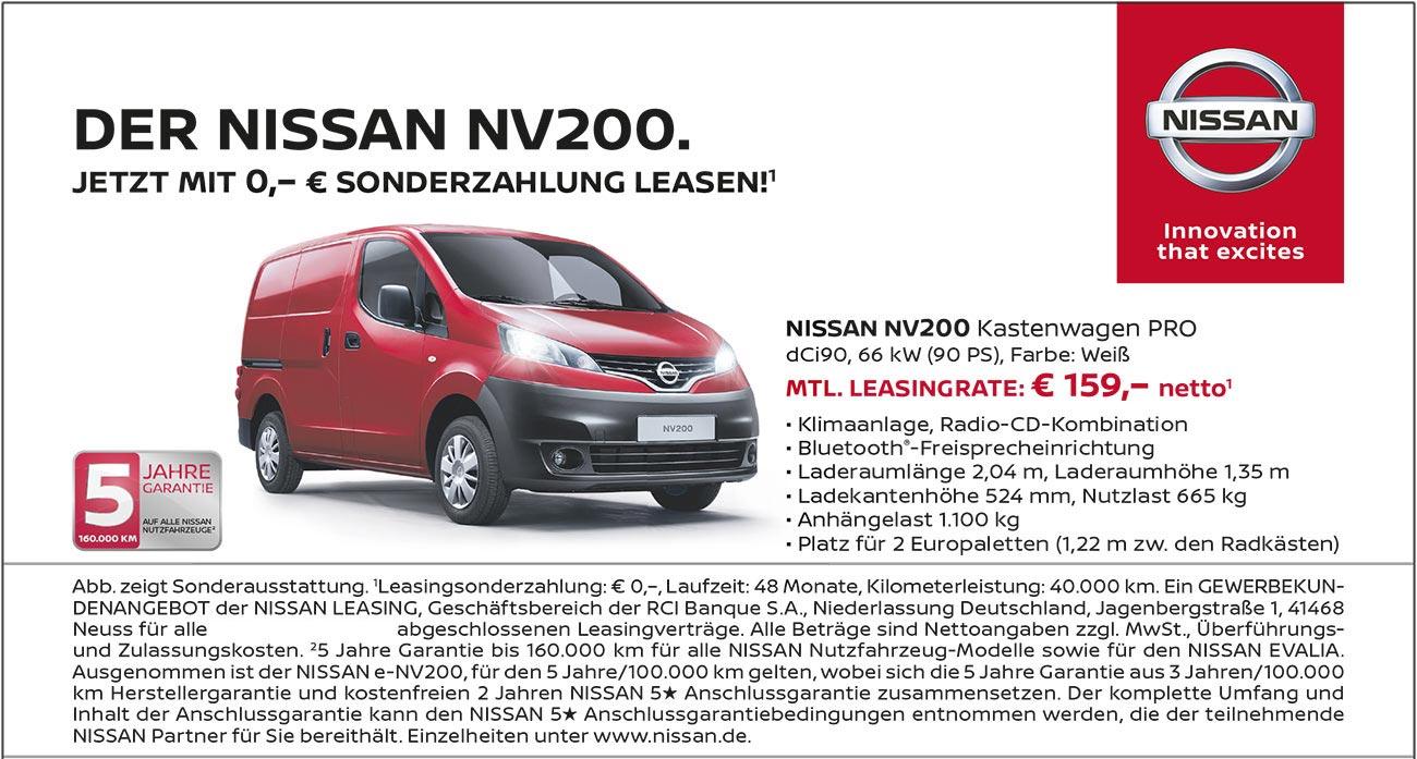 Nissan NV200 Kastenwagen Pro vom Autozentrum P&A