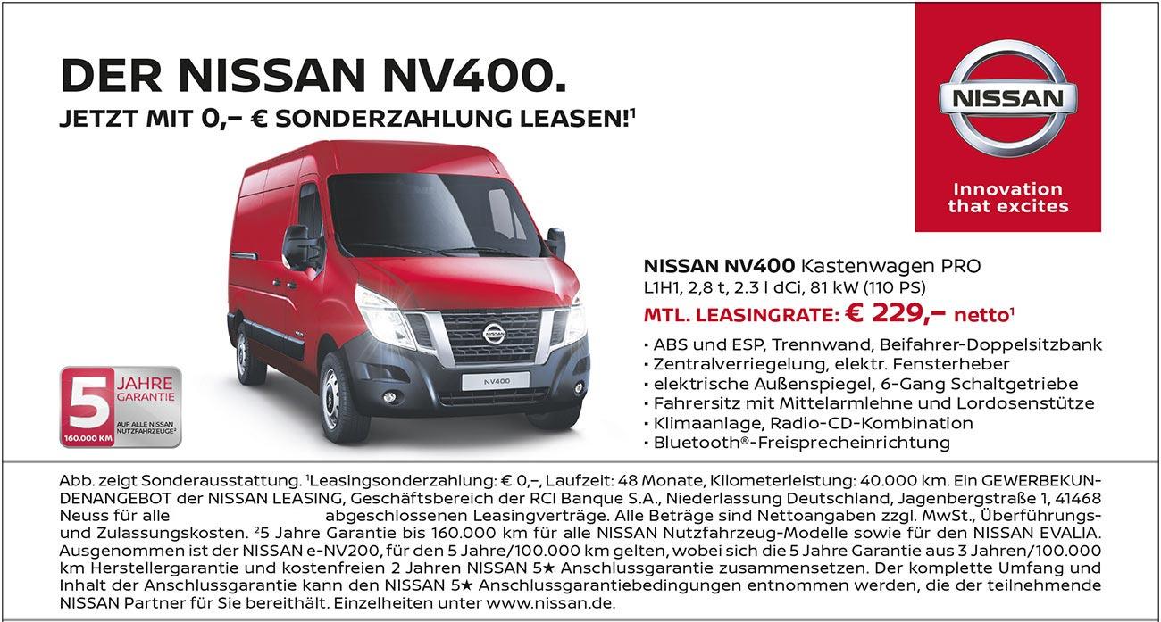 Nissan NV400 Kastenwagen Pro