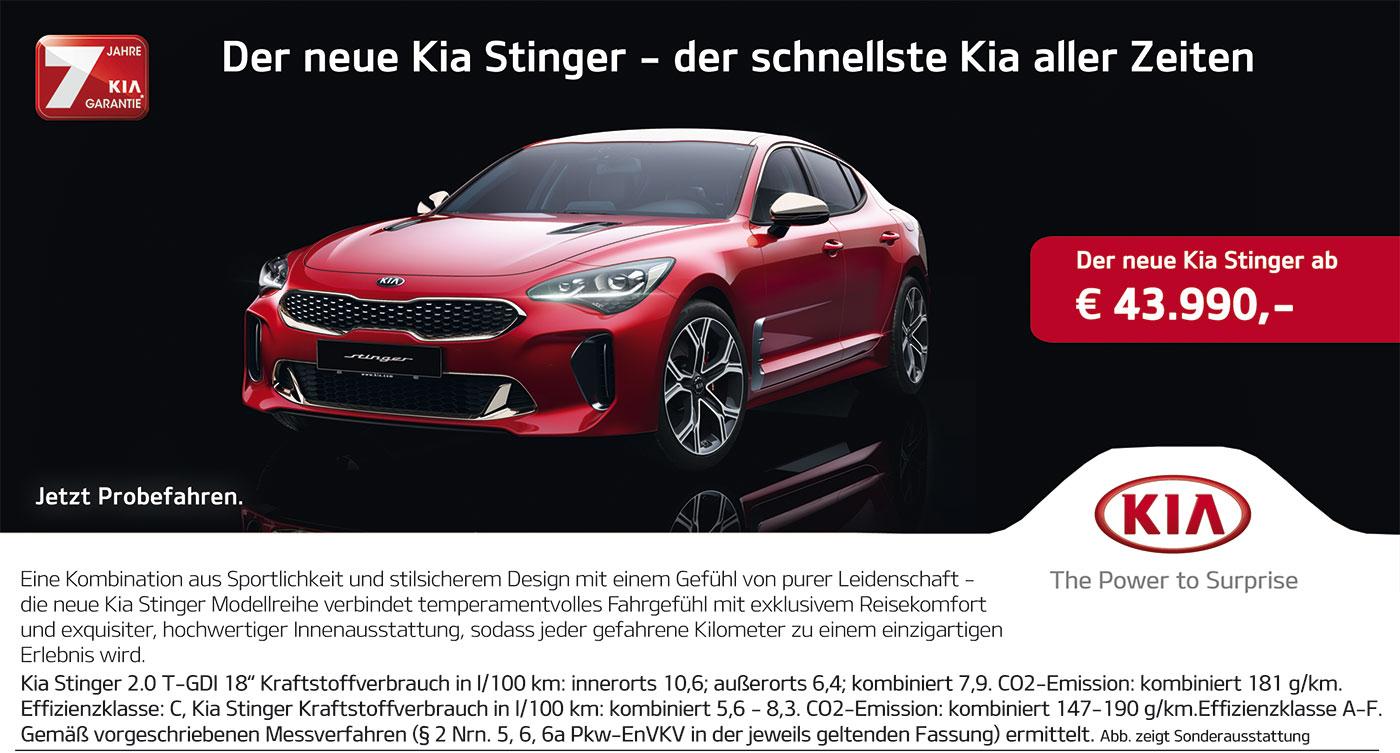 KIA Stinger: Preis 2017 von P&A