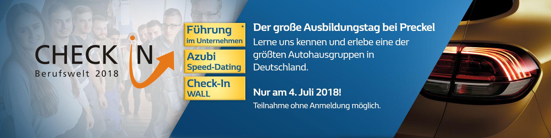 Checkin Berufswelt 2018 bei Preckel in Krefeld