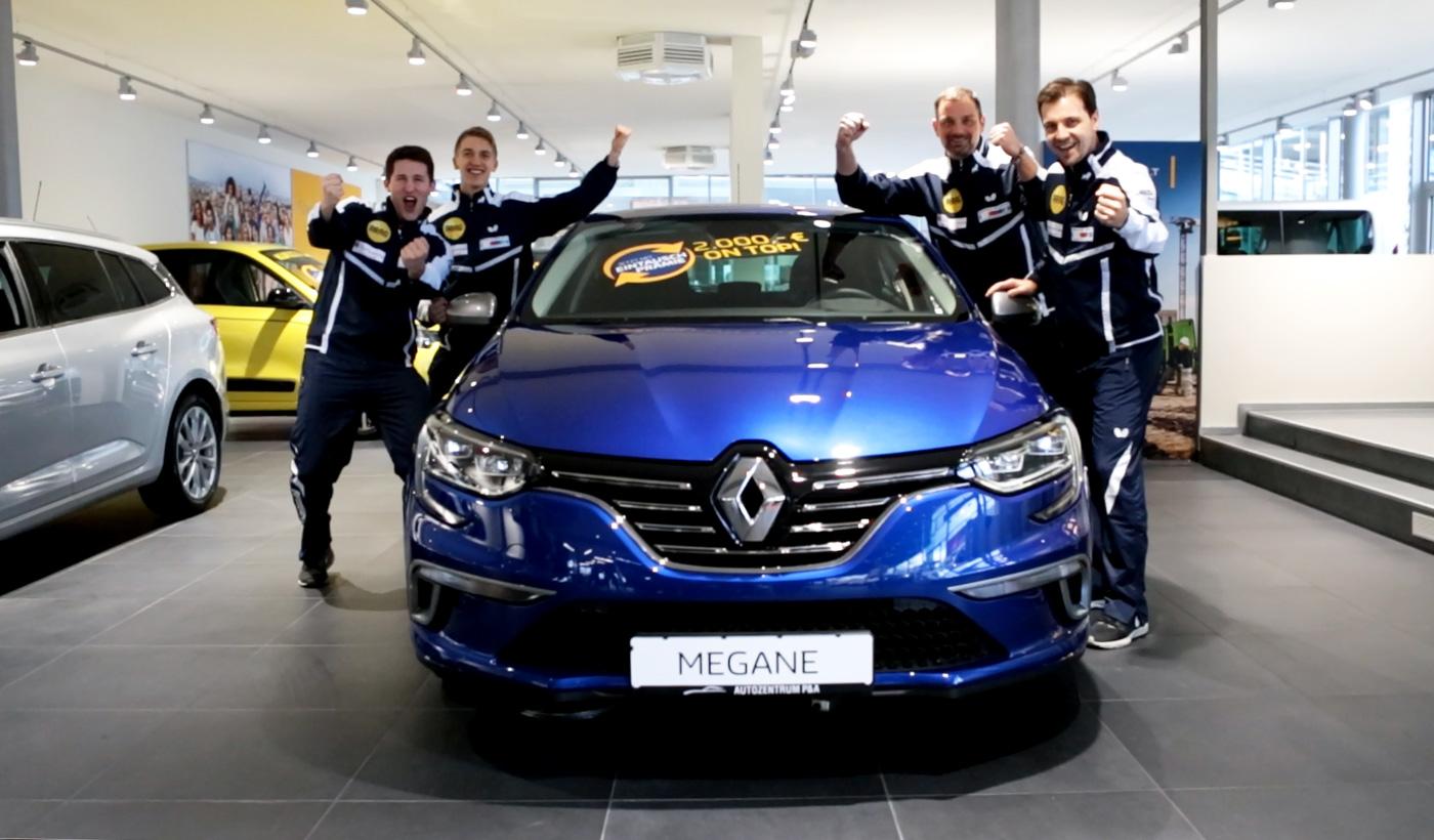 Renault Mégane Autozentrum P&A Düsseldorf mit Borussia Düsseldorf