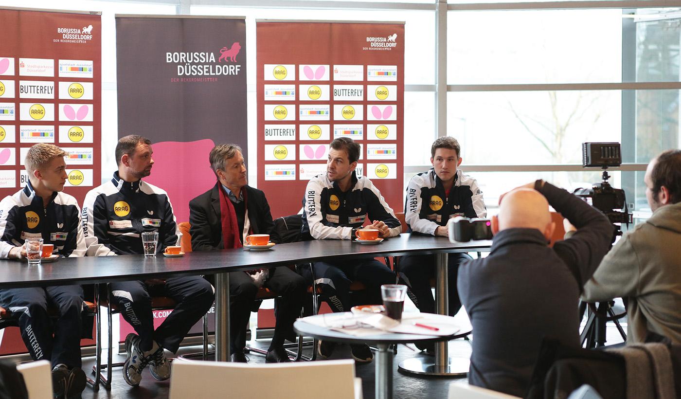 Pressekonferenz Borussia Düsseldorf im Autozentrum P&A