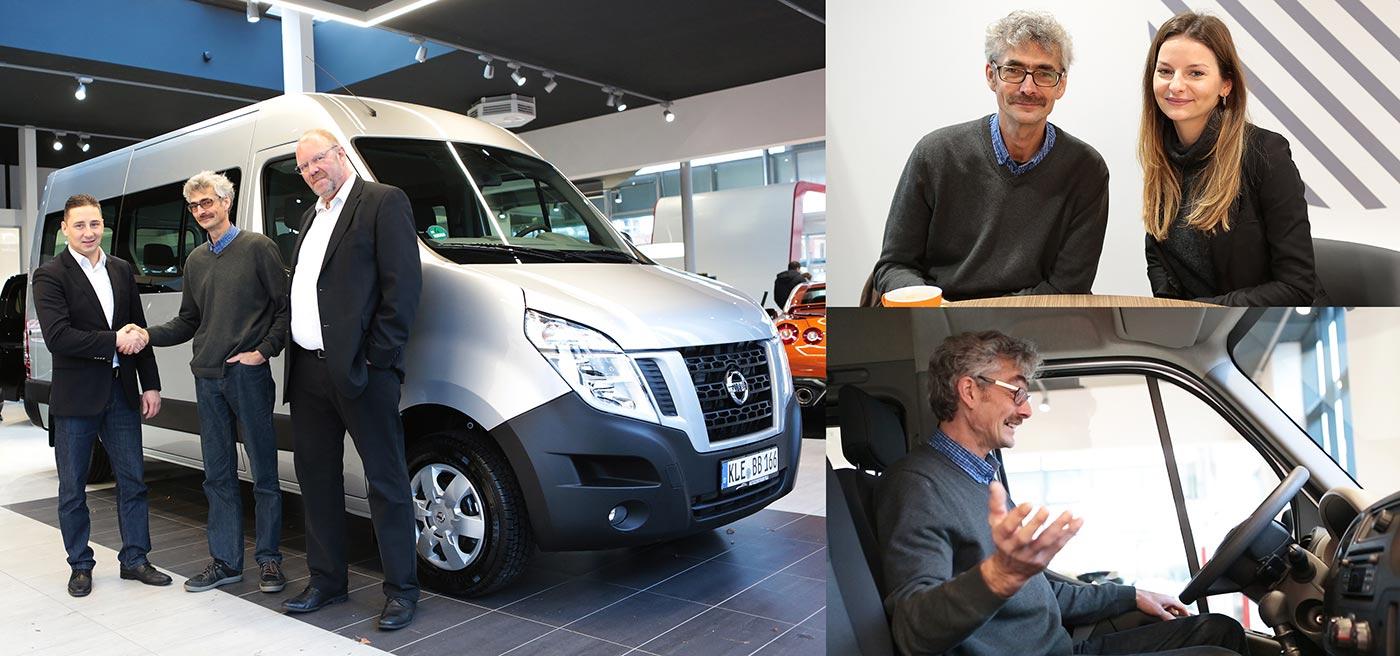 Ralf Dammasch kauft Nissan NV400 im Autozentrum P&A-Preckel