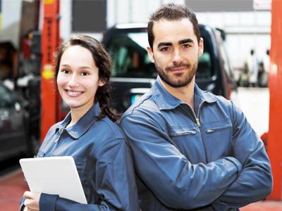 Team für Werkstatt und Karosserie bei P&A-Preckel