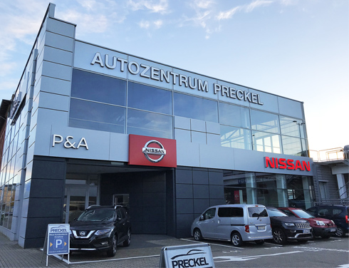 Autozentrum P&A-Preckel mit der Marke Nissan in Krefeld