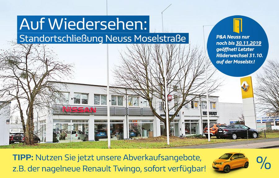 Standortschließung Neuss Autozentrum P&A