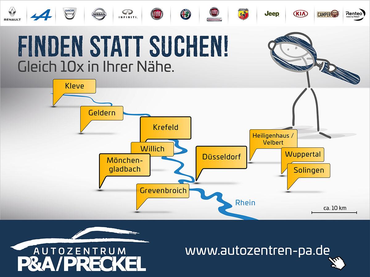Standorte und Marken vom Autozentrum P&A-PRECKEL