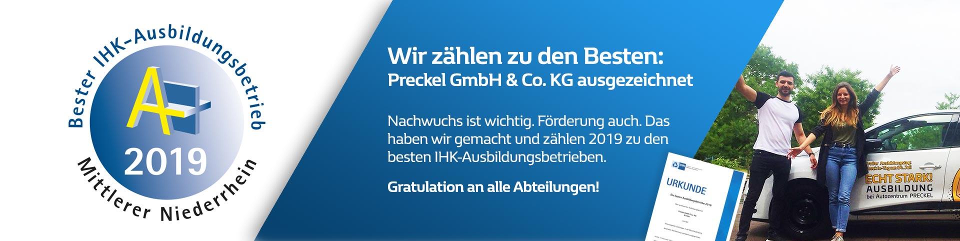 IHK Auszeichnung: Bester Ausbildungsbetrieb 2019 in Krefeld