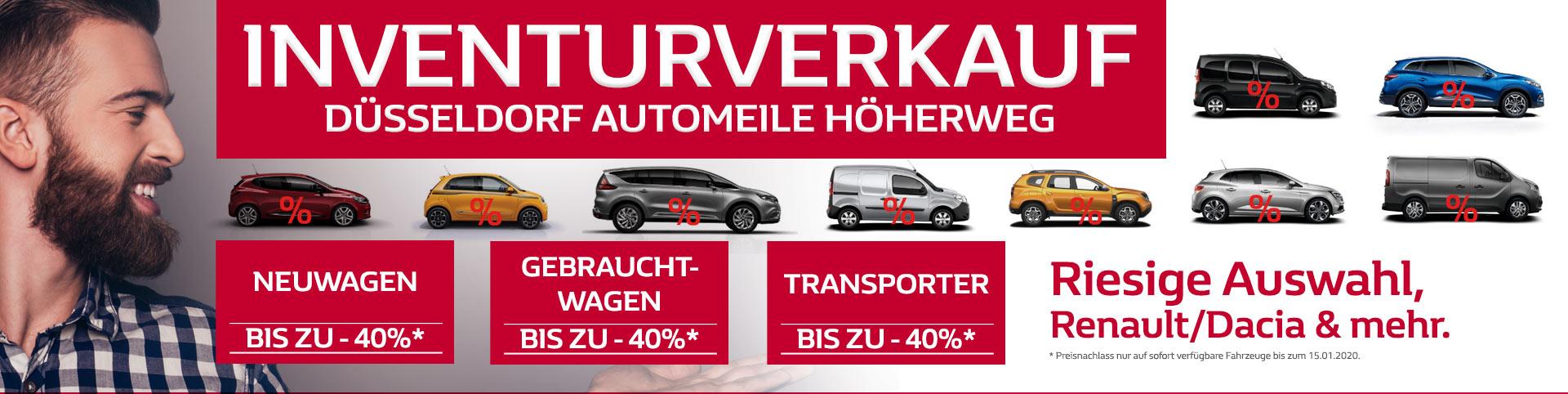 Großer Inventurverkauf in Düsseldorf bei P&A Automeile Höherweg