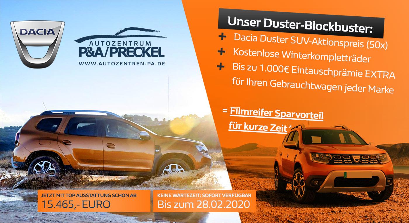 Dacia Duster Sonderangebot von P&A-PRECKEL