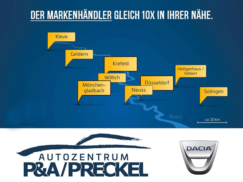 Dacia in NRW: Autozentrum P&A-PRECKEL