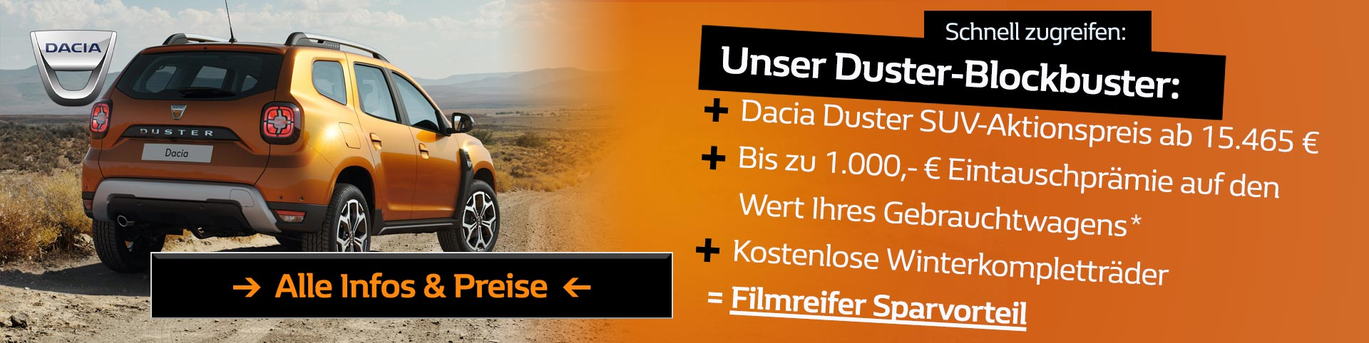 Dacia Duster Blockbuster Angebot