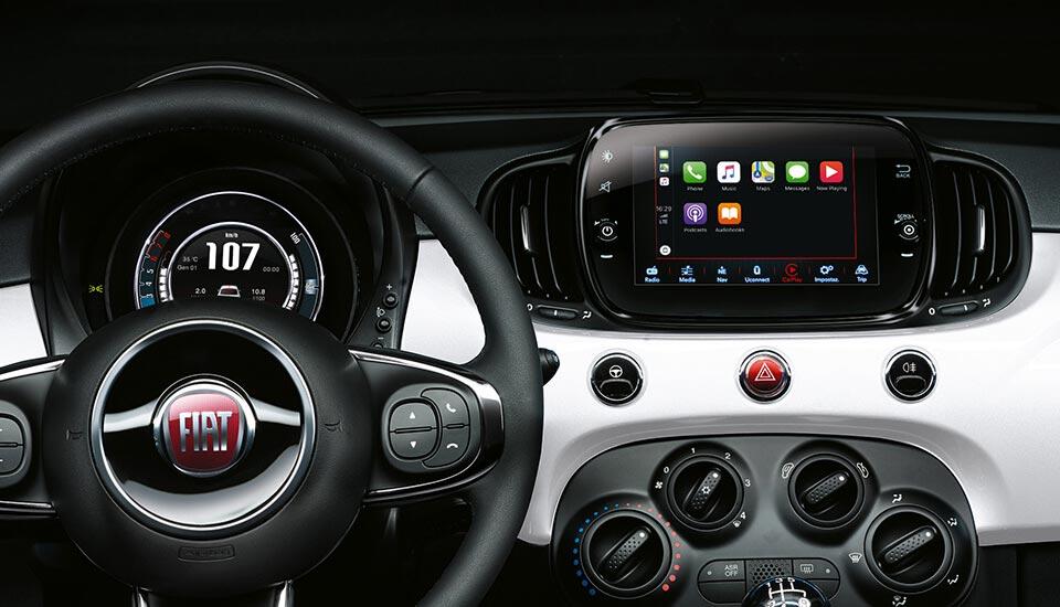 Apple Car Play und Android Auto im Fiat 500