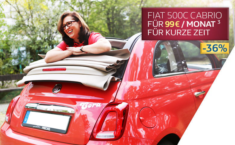 Fiat 500C finanzieren für 85 Euro pro Monat