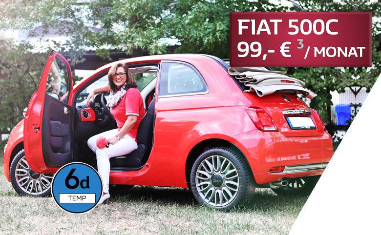 Fiat 500C finanzieren für 99 Euro pro Monat im Autozentrum P&A-PRECKEL