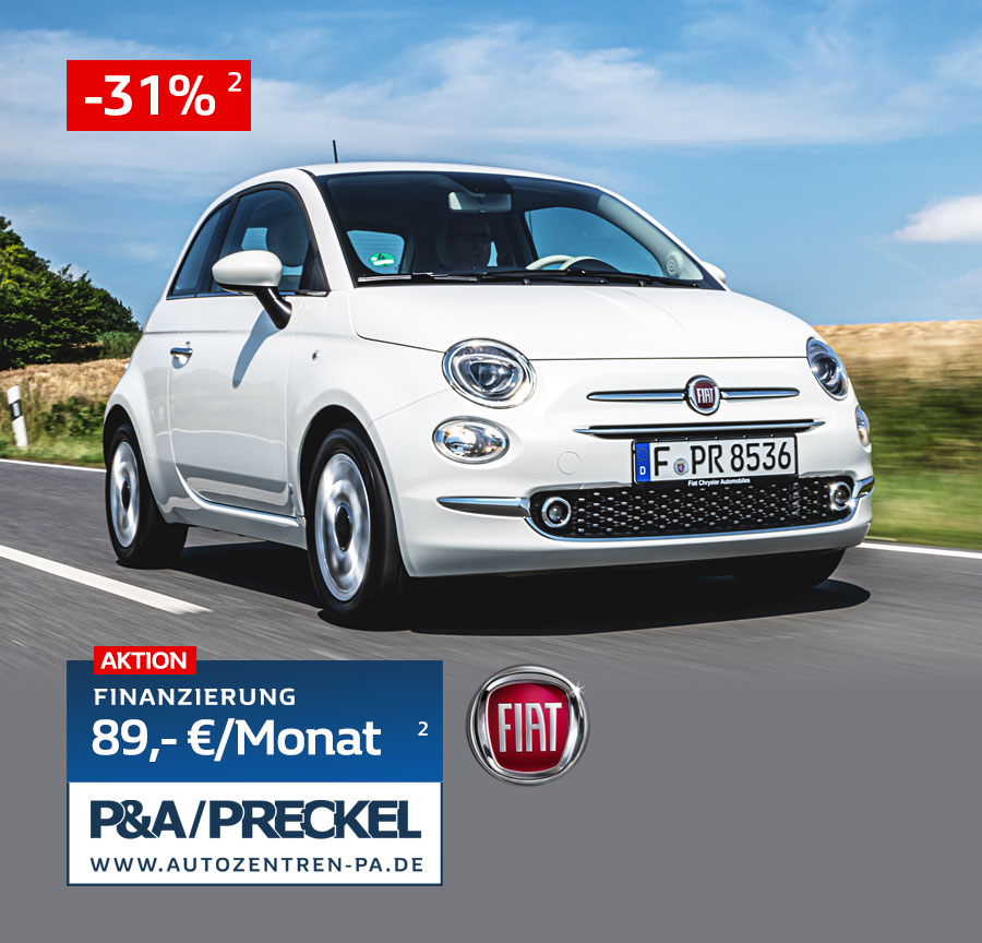 Fiat 500 Lounge Angebot 89 Euro