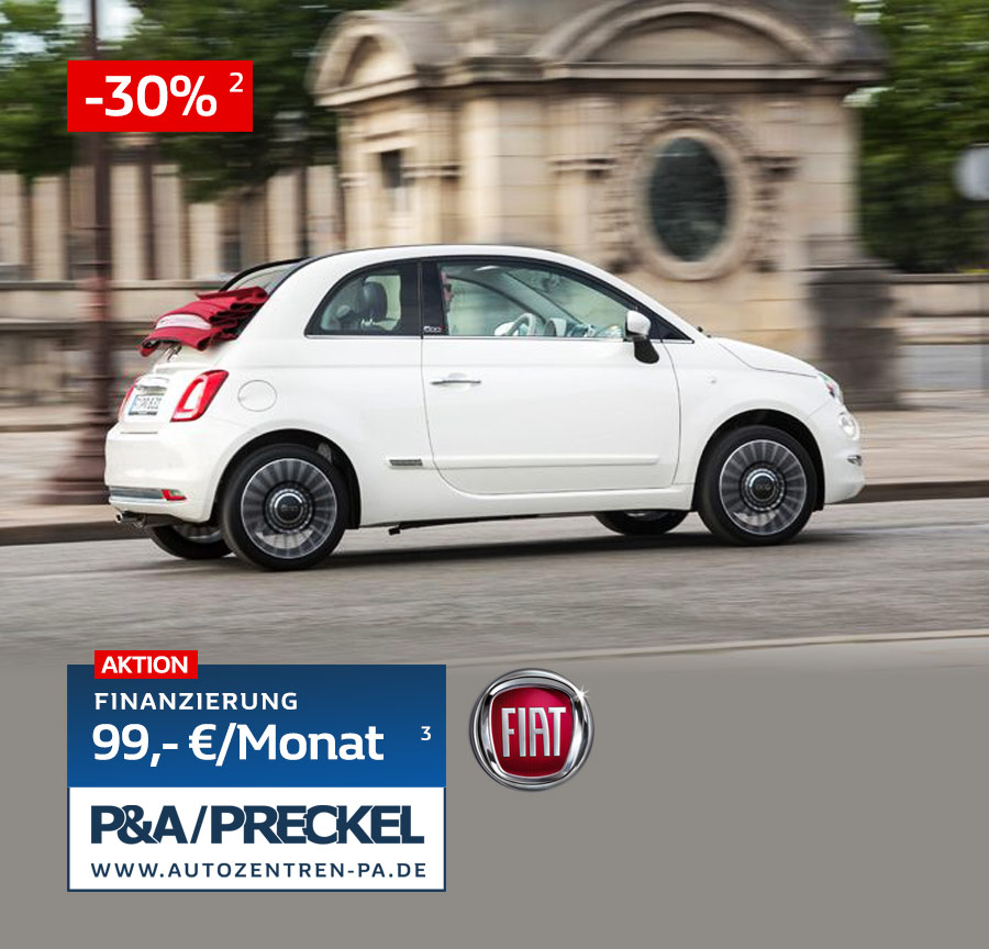 Fiat 500C finanzieren für 99 Euro pro Monat