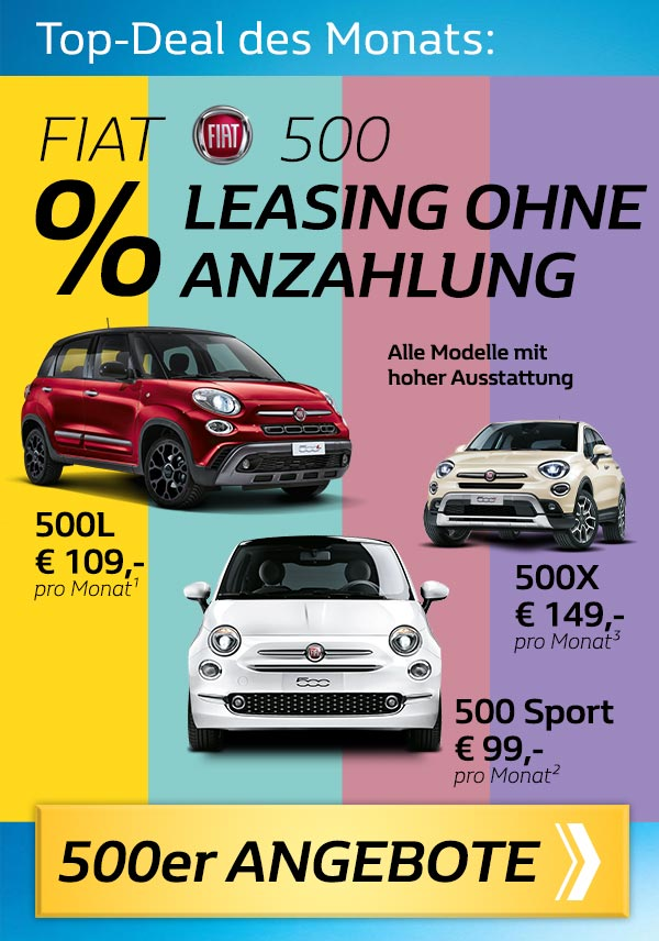 Leasing ohne Anzahlung Fiat 500