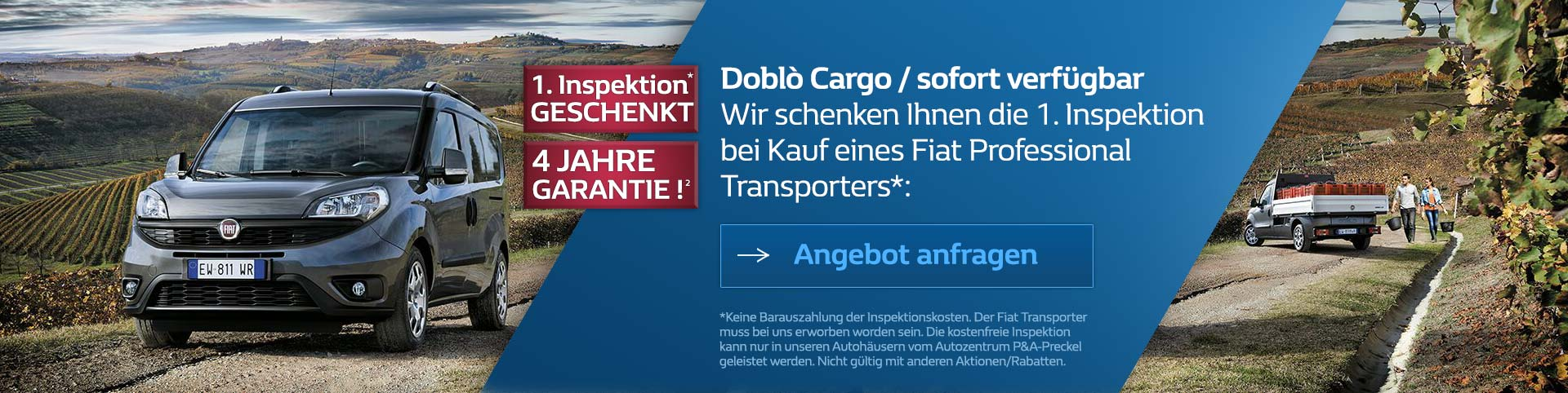 Fiat Doblo Cargo Transporter im Autozentrum P&A