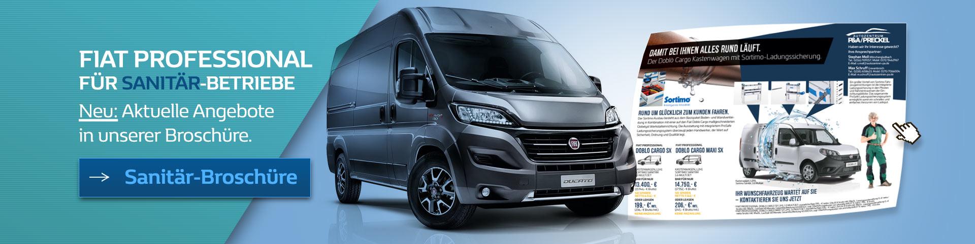 Sanitär-Angebote von Fiat Professional im Autozentrum P&A-PRECKEL