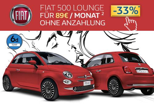 Fiat 500 Lounge Angebot