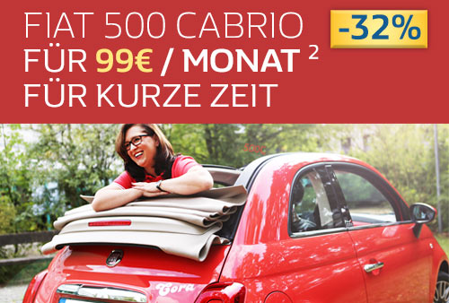 Fiat 500C für nur 85,- € pro Monat finanzieren