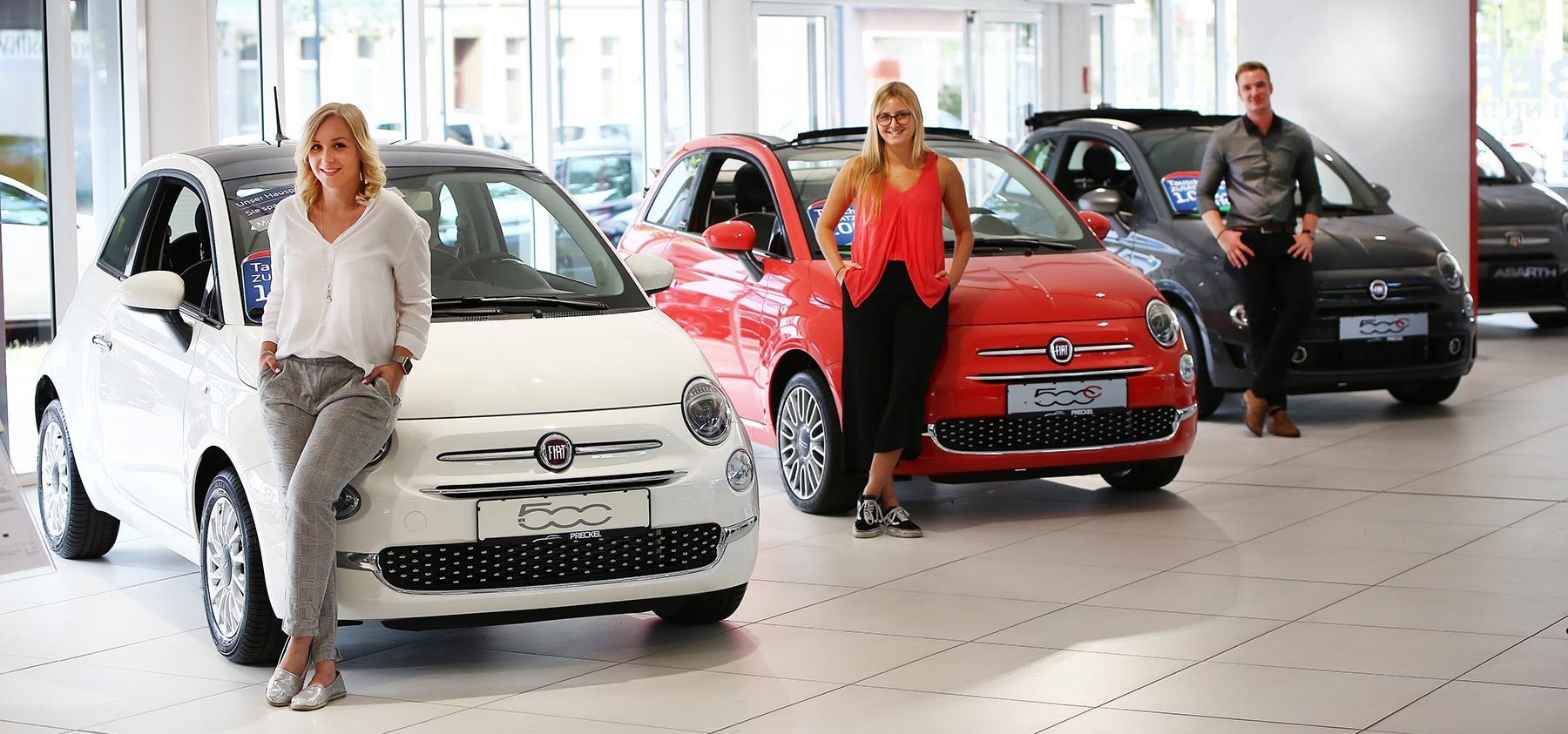 Fiat 500 Versionen im Autozentrum P&A-Preckel