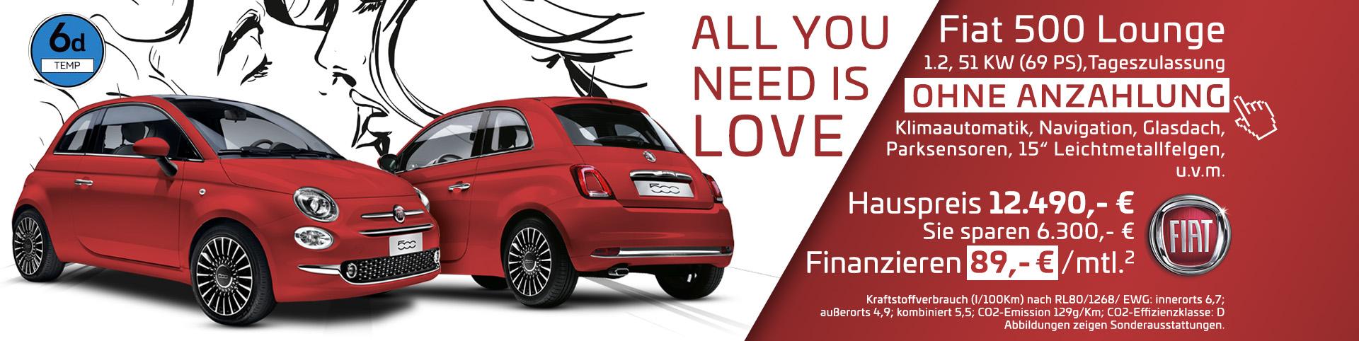 Fiat 500 Top Finanzierungsangebot im Autozentrum P&A-Preckel