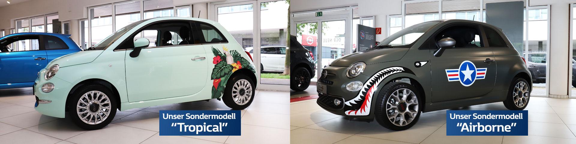 Fiat 500 Sondermodelle Tropical und Airborne