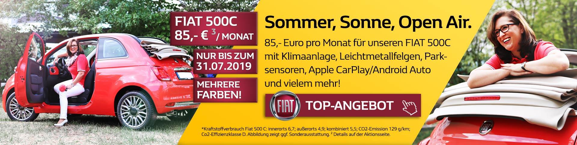Fiat 500C für 85 Euro im Monat