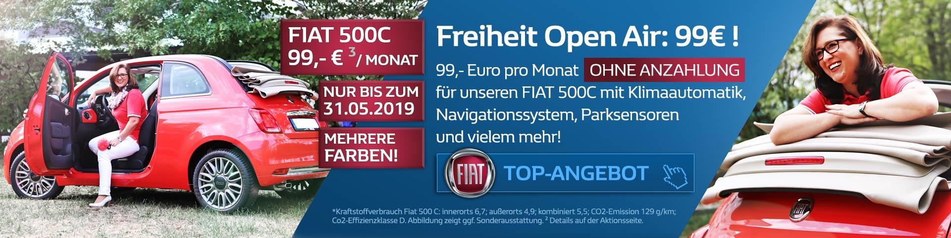 Fiat 500C Finanzierung 99 Euro