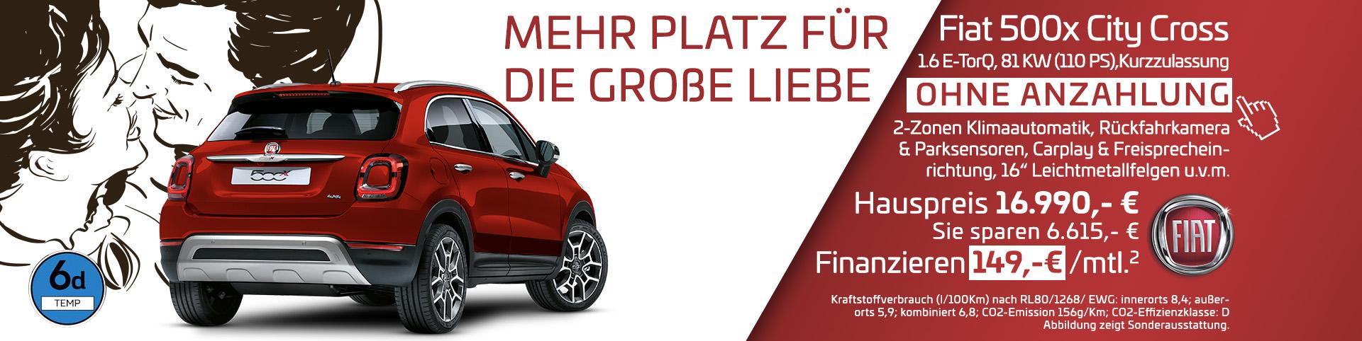 Fiat 500X Finanzierung ohne Anzahlung