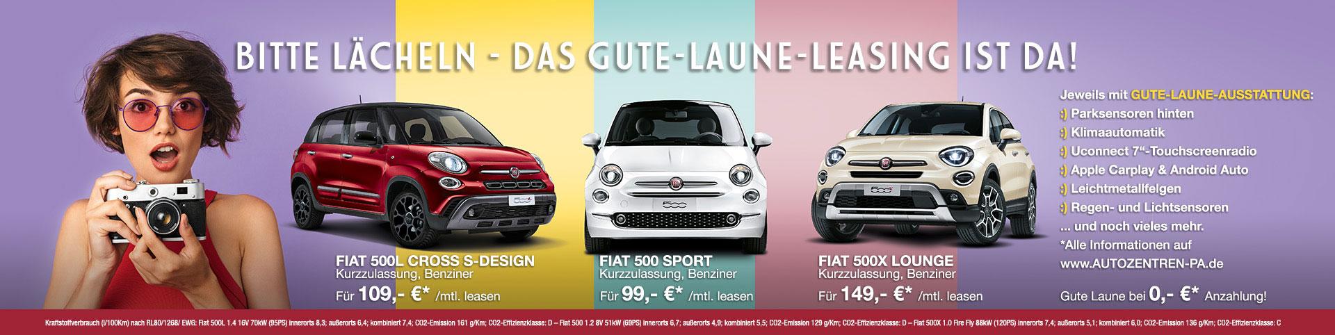 Fiat Gute-Laune-Leasing im Autozentrum P&A-PRECKEL