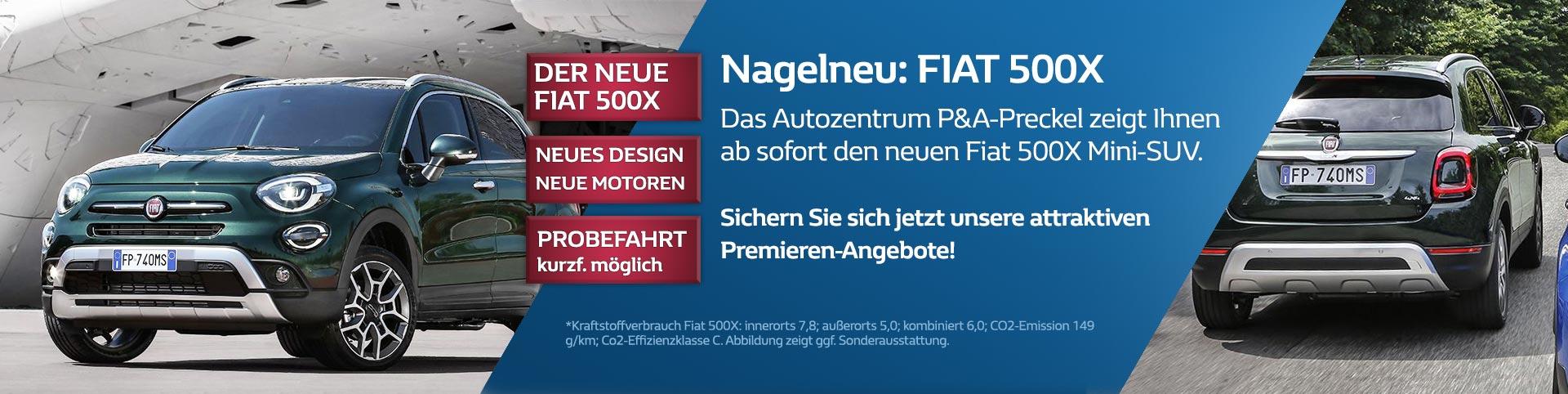 Der neue Fiat 500X von P&A-Preckel